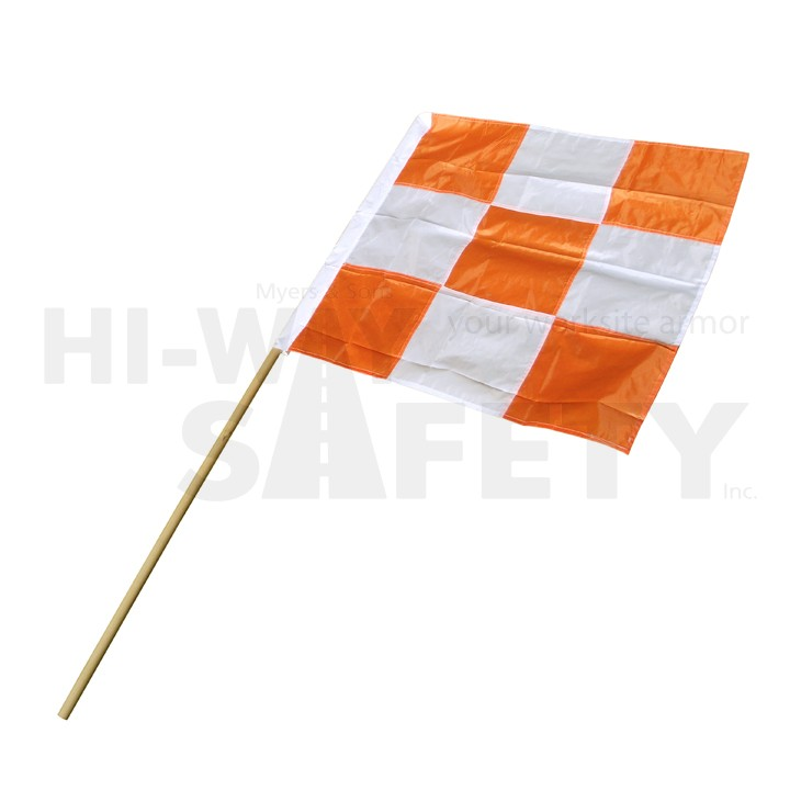 "Nylon Flag 36""x35"" with 72"" Pole"