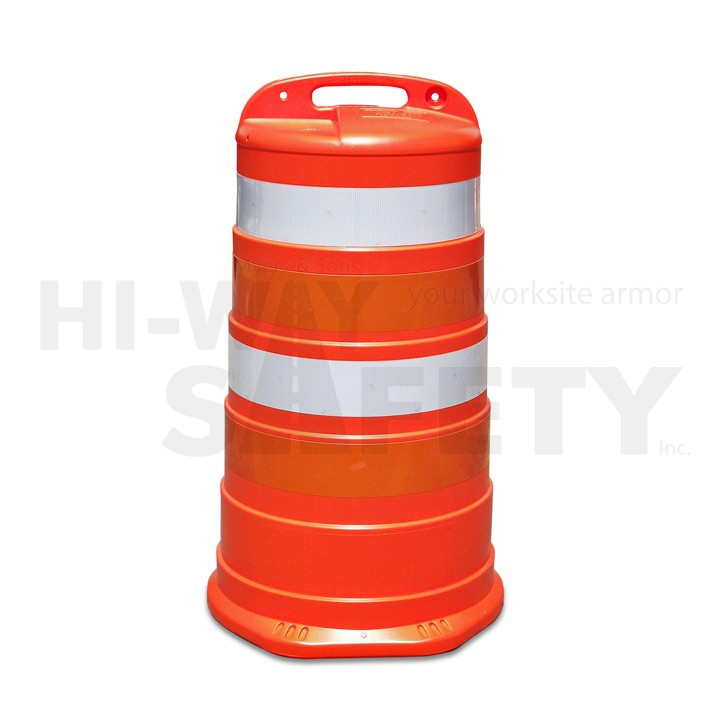 Traffic Drum, High Intensity Grade Stripes