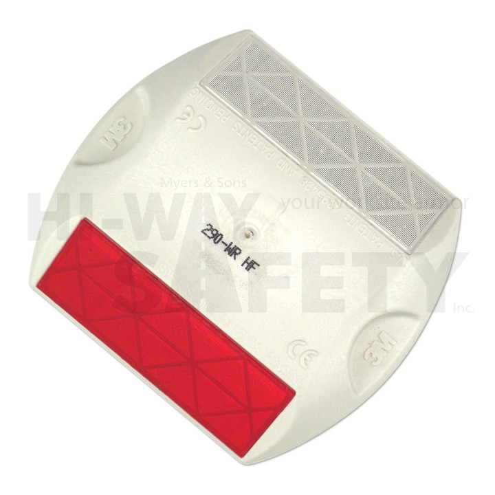 3M Raised Pavement Markers, White and Red, Two Way