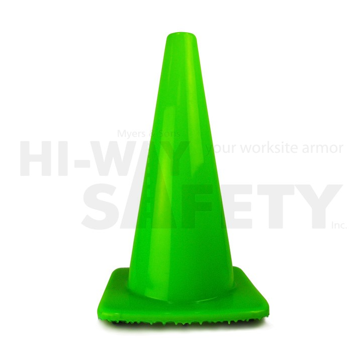 "18"" Traffic Cone, Fluorescent Green 3 lb"