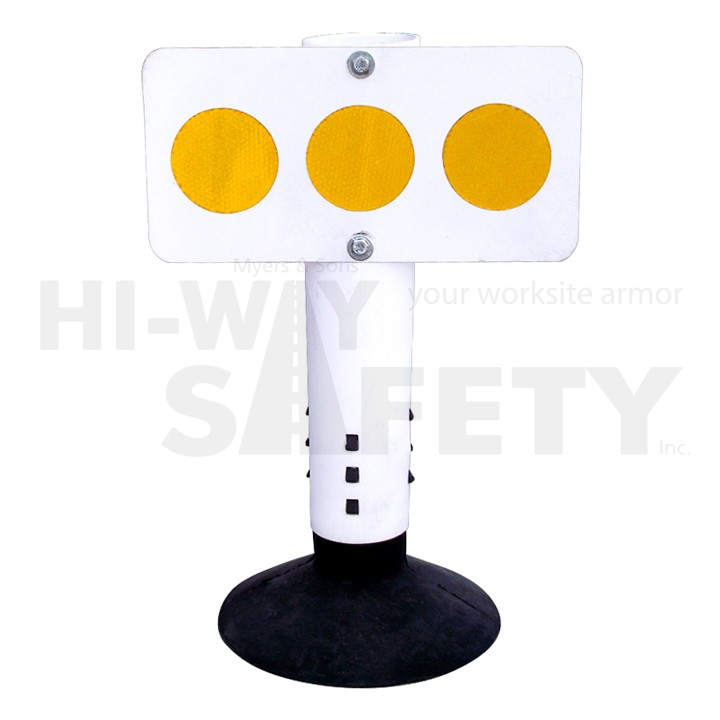 Island Markers, White with Yellow Reflectors