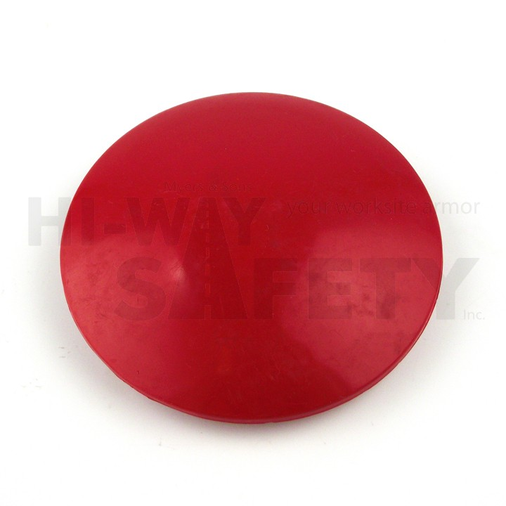4 inch ABS Plastic Dot, Red