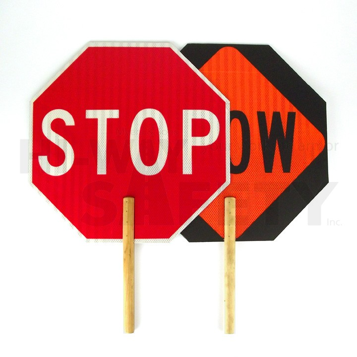 Stop Slow Paddle Sign