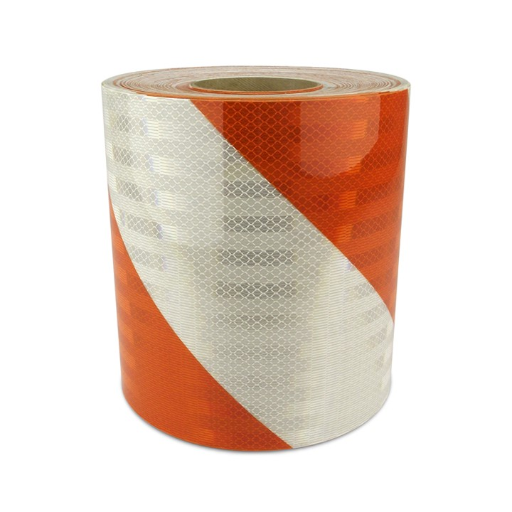 High Intensity Prismatic Reflective Barricade Sheeting, Series 334, 4 inch Stripes