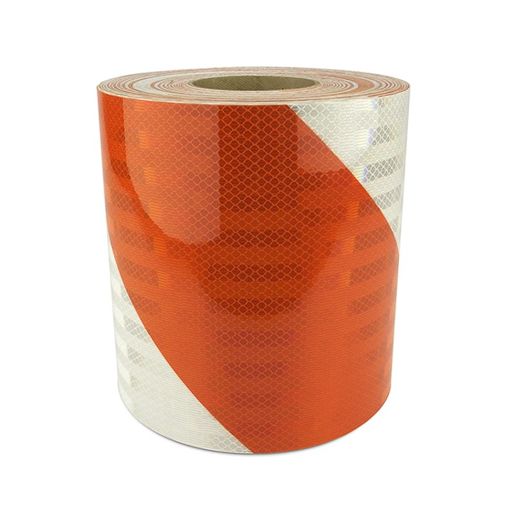 High Intensity Prismatic Reflective Barricade Sheeting, Series 336, 6 inch Stripes