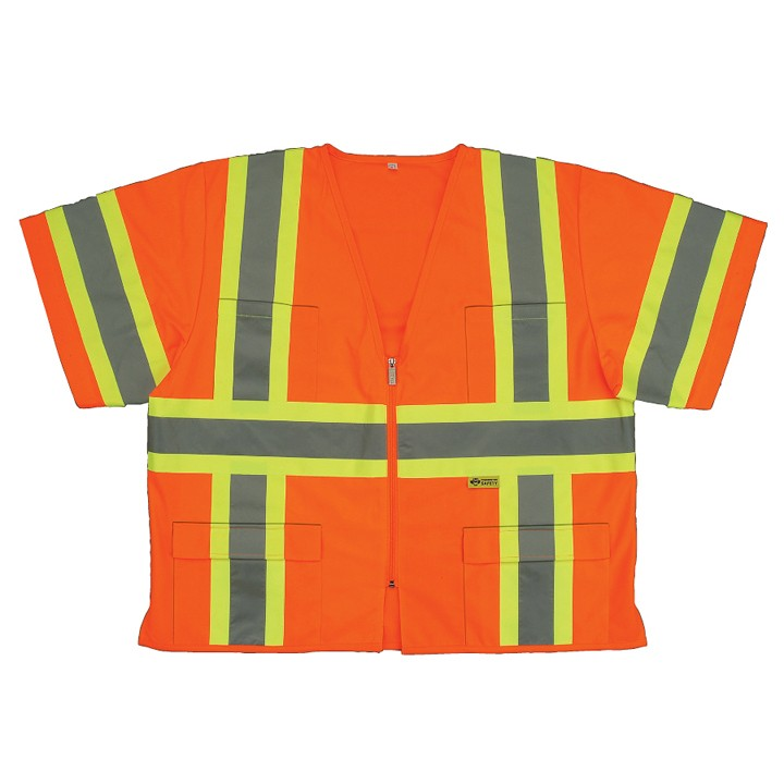 2W ANSI Class III Sleeved Safety Vest, Orange