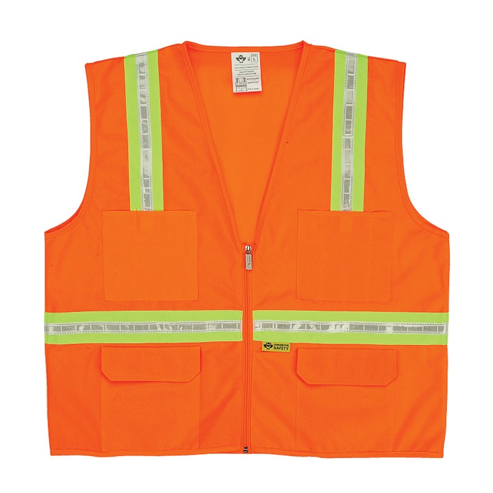 Multi Pocket Orange Surveyors Vest