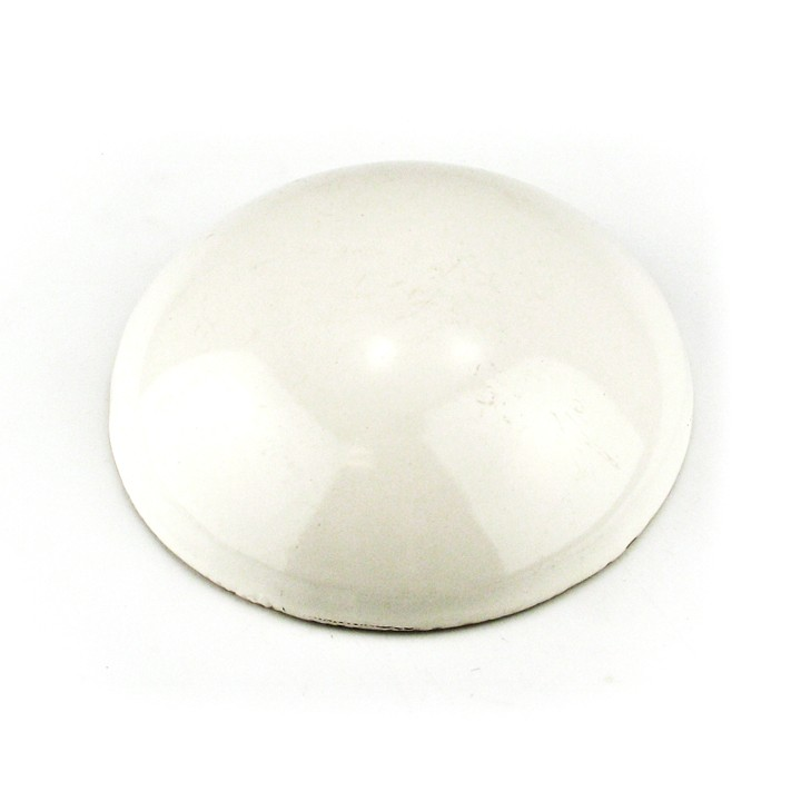 6 inch Glazed Ceramic Dot, White