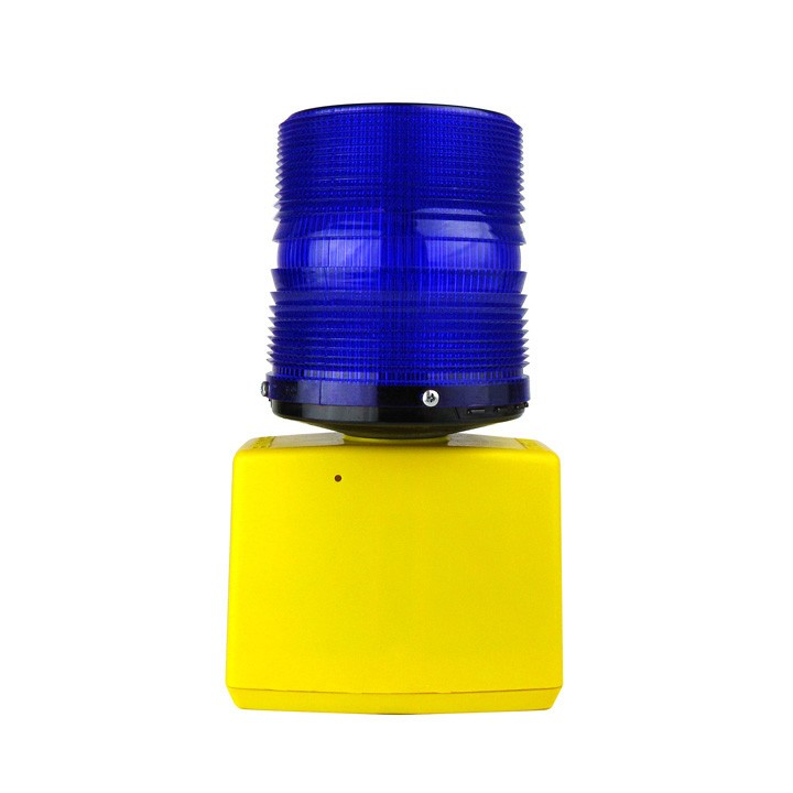 360 Flashing Beacon Barricade Light, Battery Powered, Blue
