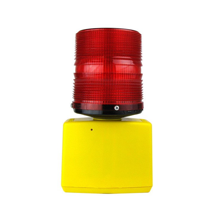 360 Flashing Beacon Barricade Light, Battery Powered, Red