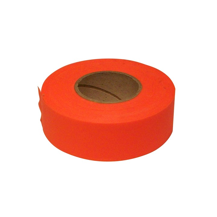 PVC Surveyors Tape, Flourescent Orange