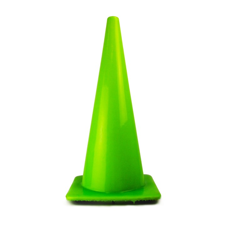 "28"" Traffic Cone, Fluorescent Green, 7 lb"