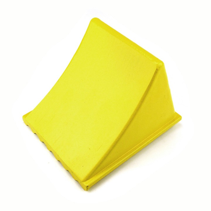 Aluminum Wheel Chock, Yellow