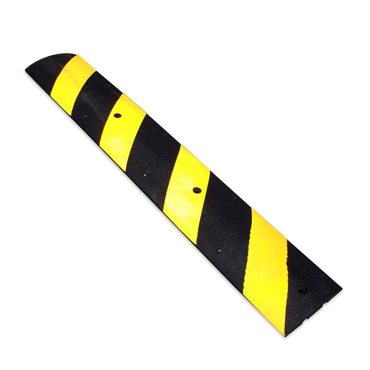 "Easy Rider Speed Bump, Black with Yellow Stripes, 72"" L x 12"" W x 2.25"" T"