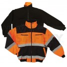Orange Reflective Bomber Jacket