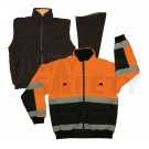 Orange Reversible Safety Jacket