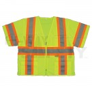 2W ANSI Class III Sleeved Safety Vest, Lime