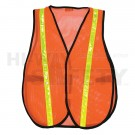 Orange Reflective Mesh Safety Vest