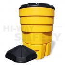 CrashGard Crash Barrels, Sand Barrel System with Lid and Insert