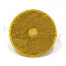 "3"" Round Reflector, Yellow"