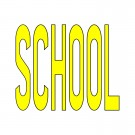 Thermo Plastic Lettering, School, Yellow