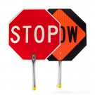 Stop Slow PAddle Sign Metal Handle